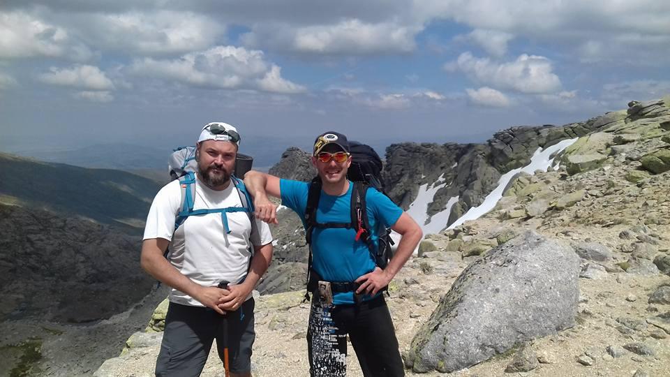 Yo con un gran amigo y compañero de Montaña... Óscar Gordillo, miembro de SOS La pedriza.