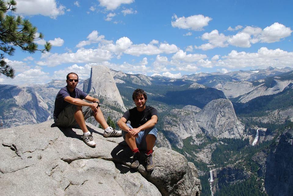 2010. Con Alberto Zaragoza en el Parque Nacional de Yosemite en California.