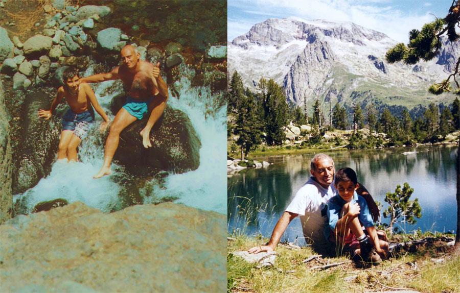 Enrique y su padre en Huesca y Guadarrama...