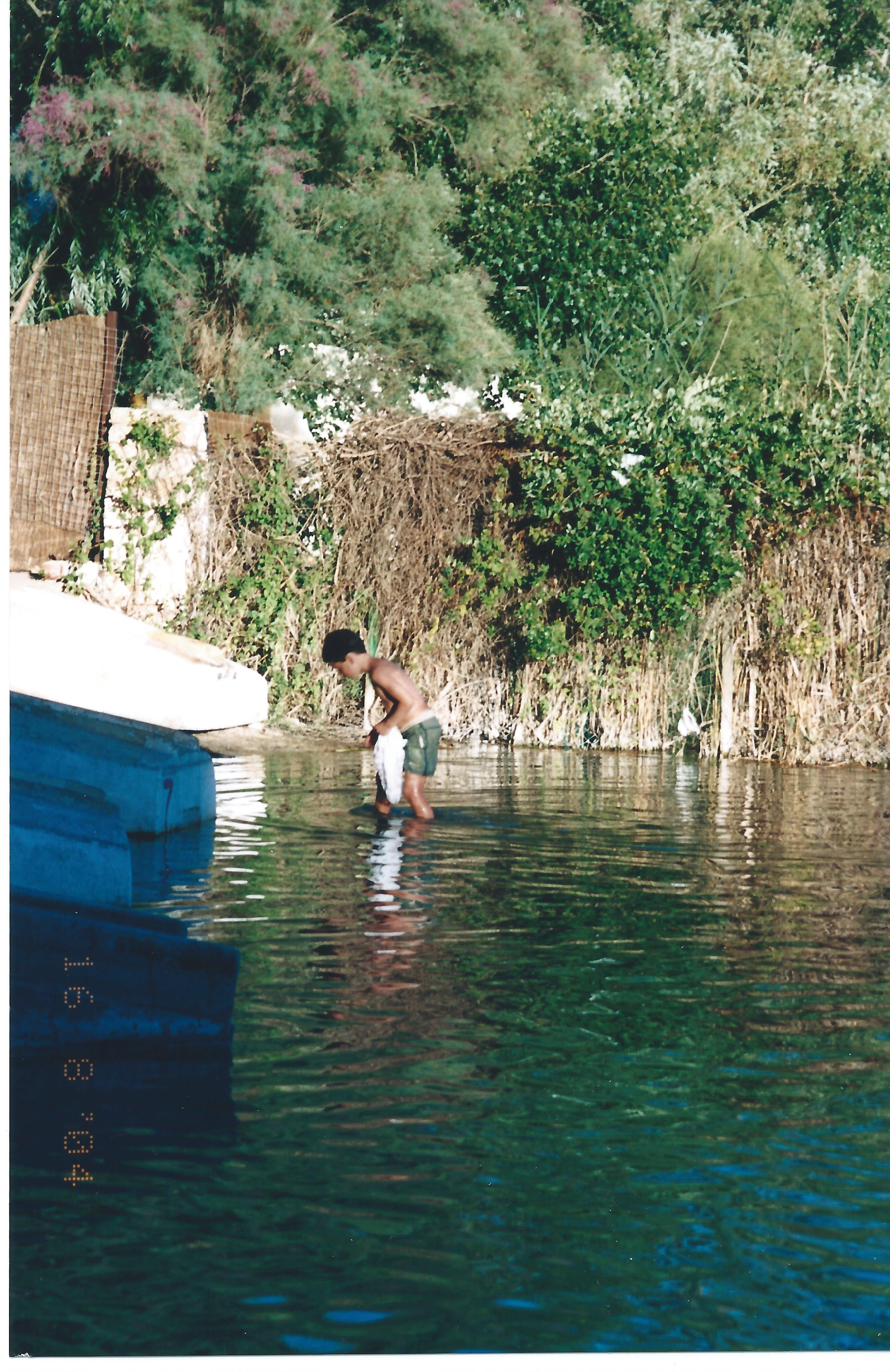 Alejandro de bicheo con apenas 10 años de edad