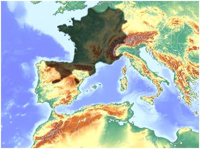 mapa distribuciçon de lagartija roquera (Podarcis muralis)