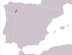 Mapa distribución Lagartija leonesa (Iberolacerta galani