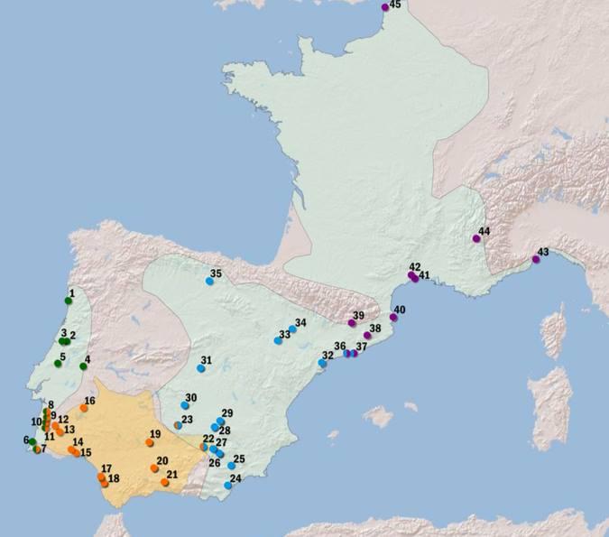 mapa distribución especies sapillo moteado pelodytes 2017