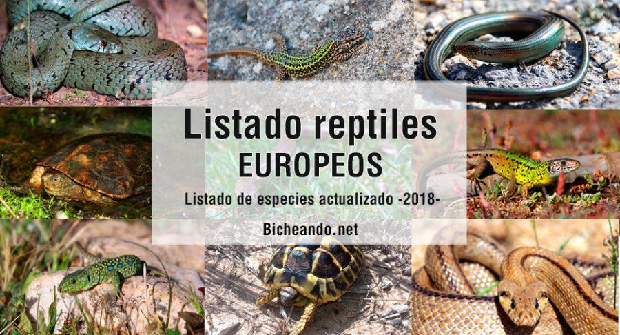 listado especies reptiles europa 2018