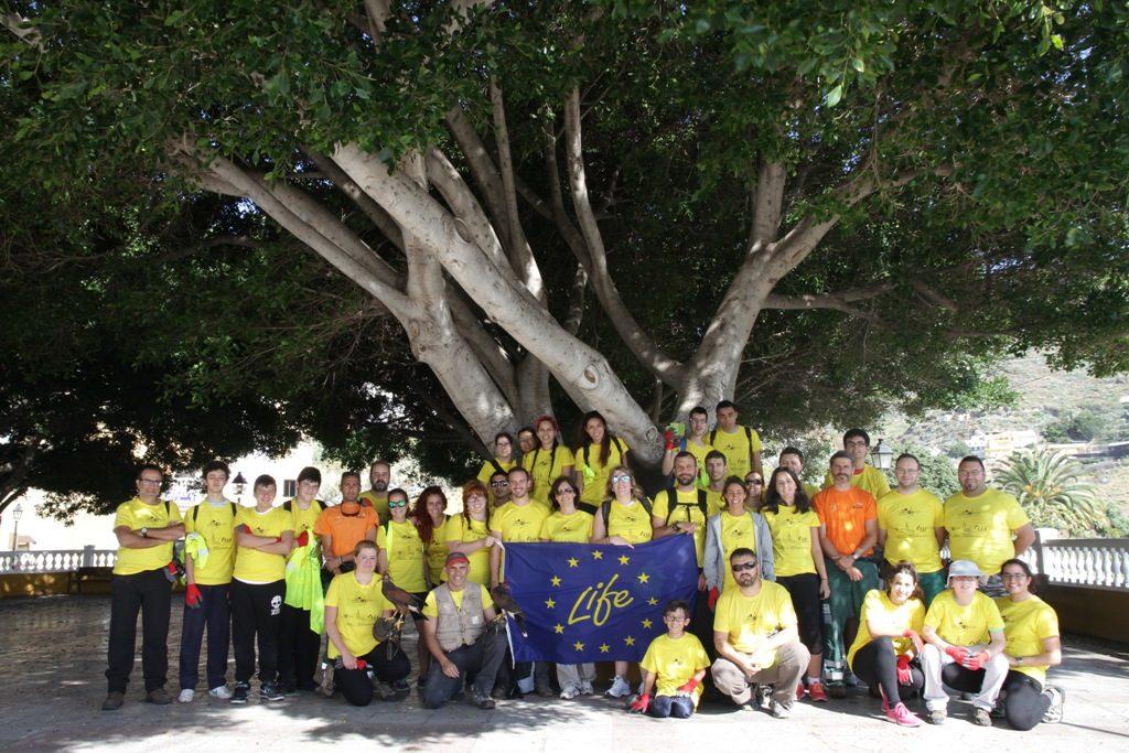 Grupo de voluntarios del proyecto Lampropeltis. Créditos: Ramón Gallo.