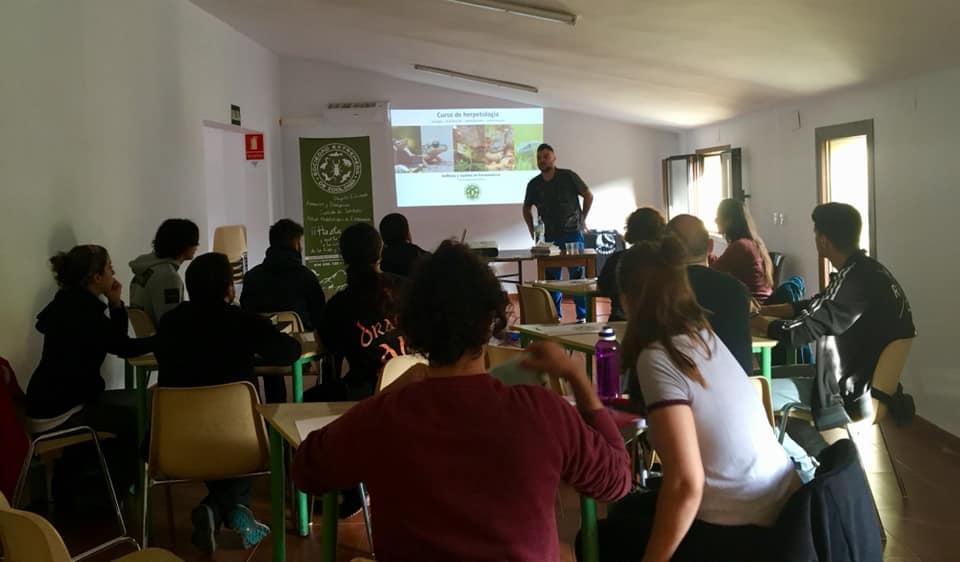 Curso de herpetología general en Monfragüe (octubre 2018)