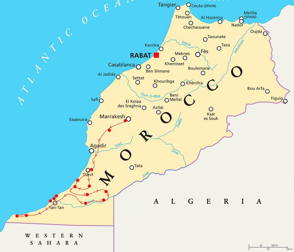 viaje-herpetologico-sur-marruecos-bicheando-mapa