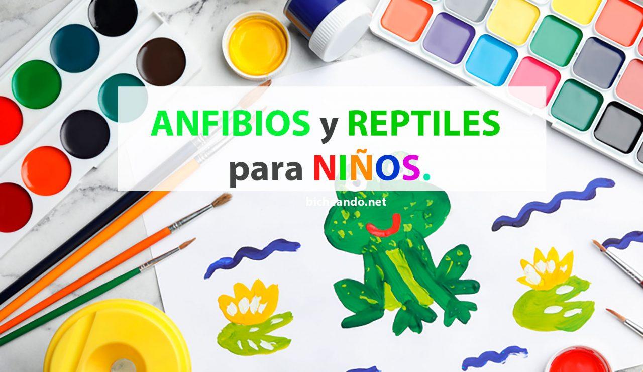 anfibios y reptiles para niños